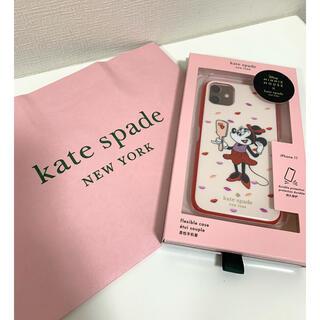 ケイトスペードニューヨーク(kate spade new york)の新品未使用♡ケイトスペード×ミニー コラボ iPhoneケース(iPhoneケース)