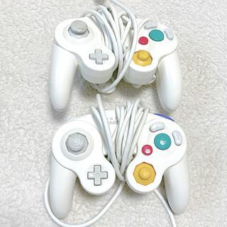 ニンテンドーゲームキューブ(ニンテンドーゲームキューブ)のゲームキューブコントローラー ホワイト 2個セット‼︎(家庭用ゲーム機本体)