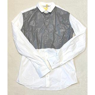 ニールバレット(NEIL BARRETT)のNEIL BARRETT ニールバレット フェイクレザー切替シャツ(シャツ)