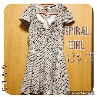 スパイラルガール(SPIRAL GIRL)の【spiral girl】トランプ柄ワンピース(ひざ丈ワンピース)