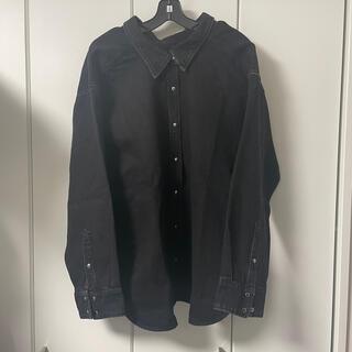 バレンシアガ(Balenciaga)のバレンシアガ balenciaga デニムシャツ ピンチドシャツ 黒 34(シャツ/ブラウス(長袖/七分))