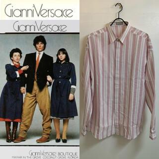 ジャンニヴェルサーチ(Gianni Versace)のGIANNI VERSACE VINTAGE 80s イタリア製 織柄シャツ(シャツ)