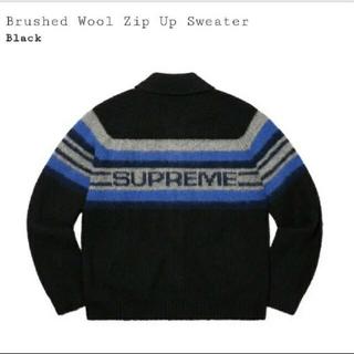 シュプリーム(Supreme)のsupreme brushed wool zip up sweater Mサイズ(ニット/セーター)
