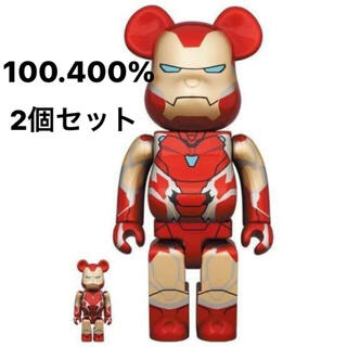 メディコムトイ(MEDICOM TOY)のBE@RBRICK IRON MAN 100% & 400%  2個セット(その他)