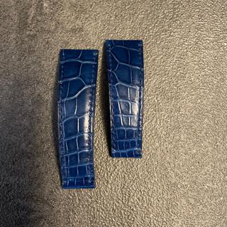 ロレックス(ROLEX)のロレックス デイトナ用 革ベルト 純正品 ロイヤルブルー(レザーベルト)