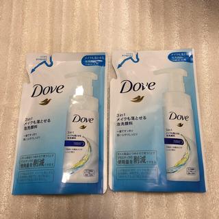 ユニリーバ(Unilever)のダヴ 3in1 メイクも落とせる泡洗顔料 つめかえ用×2(クレンジング/メイク落とし)