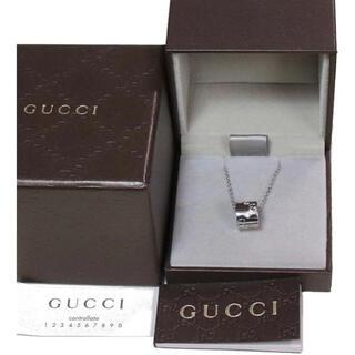 グッチ(Gucci)のGUCCI グッチ 正規品 G リング k18 ネックレス 中古 美品 送料無料(ネックレス)