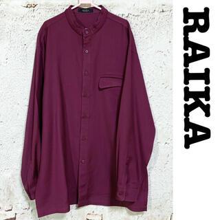 グリモワール(Grimoire)のRAIKA★ノーカラーシャツ 長袖シャツ マオカラー バンドカラー ウール(シャツ)