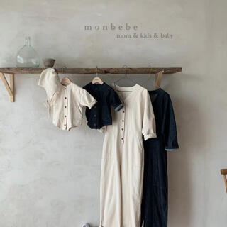 monbebe denim ロンパース 韓国子供服(ロンパース)
