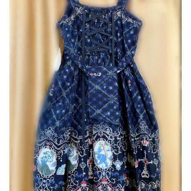 ALICE and the PIRATES(アリスアンドザパイレーツ)のエリザベート〜死に愛された皇妃〜ジャンパースカート1型 レディースのスカート(ひざ丈スカート)の商品写真
