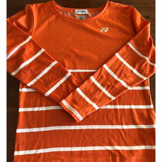 ヨネックス(YONEX)のヨネックス 長袖Tシャツ オレンジ(バドミントン)