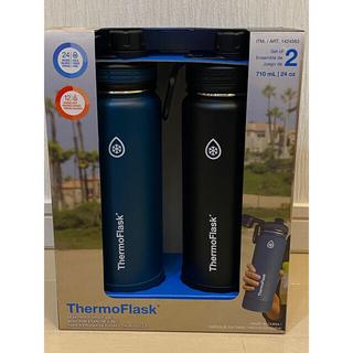 コストコ(コストコ)のThermoflask 二重壁真空断熱ステンレススチールウォーターボトル 2本(水筒)