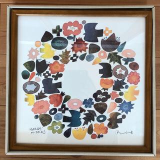 イデー(IDEE)のIDEE BIRDS' WORDS バーズワーズ グラフィック リース 30cm(絵画/タペストリー)