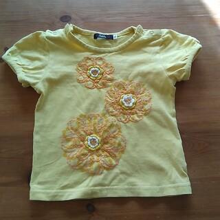 刺繍トップス 半袖 90サイズ(Tシャツ/カットソー)