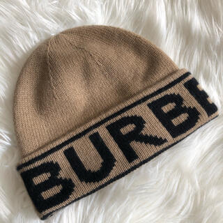 バーバリー(BURBERRY)のバーバリー  ロゴ ビーニー ニット(ニット帽/ビーニー)