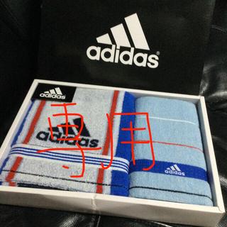 アディダス(adidas)のアディダス adidas スポーツタオル ウォッシュタオル 2点セット(タオル/バス用品)