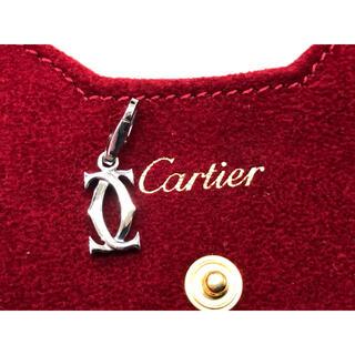 カルティエ(Cartier)のカルティエ 2Cチャーム k18WG(ネックレス)