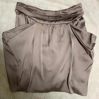 コントワーデコトニエ(Comptoir des cotonniers)の【一度着用済み】コントワーデコトニエ  グレージュ スカート(ひざ丈スカート)