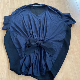 サカヨリ(sakayori)のsakayori リボンデザイン 裏メッシュ半袖プルオーバー(シャツ/ブラウス(半袖/袖なし))