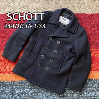ショット(schott)のSCHOTT ショット Pコート ピーコート ウール USA製 ブラック(ピーコート)
