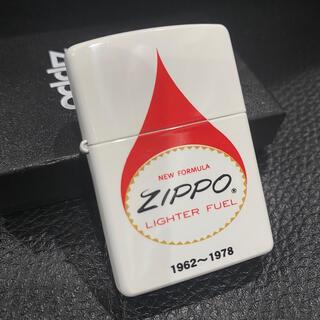 ジッポー(ZIPPO)の【ZIPPO】LIGHTER FUEL オイル缶デザイン 白 ジッポライター(タバコグッズ)