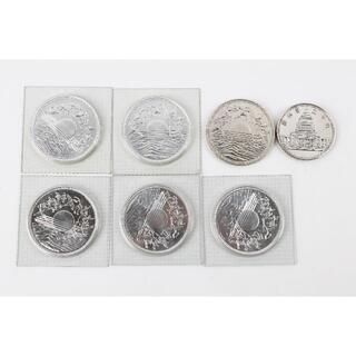御在位60年記念10000円銀貨 6枚 他 5000円銀貨 1枚(貨幣)