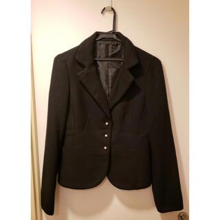コムサイズム(COMME CA ISM)のCOMME CA ISM(コムサイズム)  ジャケット&スカート 黒 サイズ:L(ノーカラージャケット)