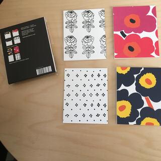 マリメッコ(marimekko)のマリメッコ ミニカード 4枚セット(カード/レター/ラッピング)