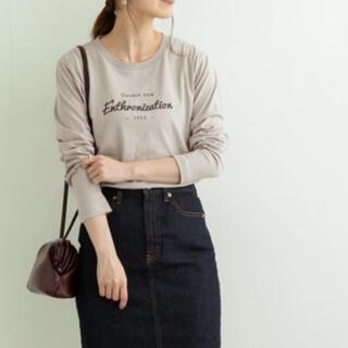 アーバンリサーチ(URBAN RESEARCH)のSonny Label 刺繍ロゴロングTシャツ【グレー】未使用(Tシャツ(長袖/七分))