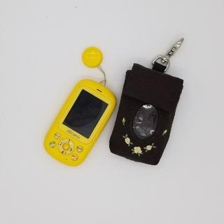 エヌティティドコモ(NTTdocomo)のドコモキッズケータイ(F-03J)+携帯入れ(携帯電話本体)