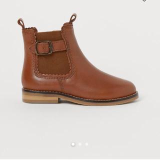 エイチアンドエム(H&M)のH&M キッズ アンクルレザーブーツサイズ表記29(ブーツ)