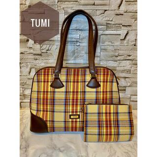 トゥミ(TUMI)の【TUMI】ハンドバッグ ポーチ セット チェック レディース 高級(ハンドバッグ)