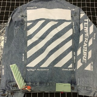 OFF-WHITE - 新品 Off-White デニムジャケット  スプレーロゴ