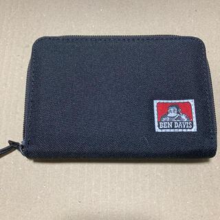 ベンデイビス(BEN DAVIS)のベンデイビス BEN DAVIS 二つ折りラウンドジップウォレット ブラック(折り財布)