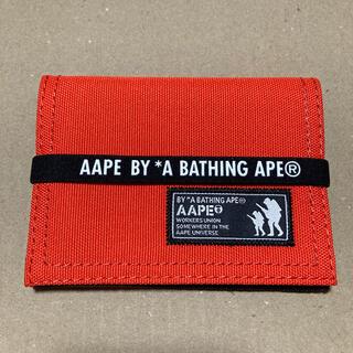 アベイシングエイプ(A BATHING APE)のAAPE BY A BATHING APE エイプ カードケース(パスケース/IDカードホルダー)