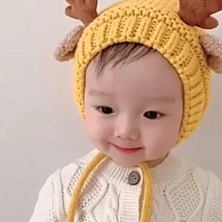 【みゆたん様】新品 ベビー クリスマス コスチューム トナカイ ニット 帽子(帽子)