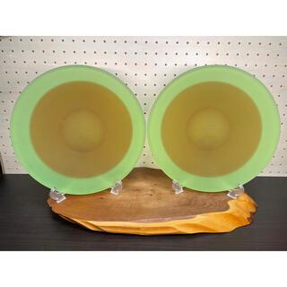 トウヨウササキガラス(東洋佐々木ガラス)の佐々木ガラス 大皿 2枚(食器)