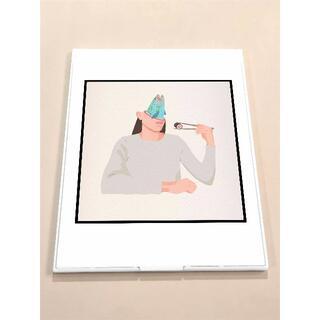 MGD011-イラストレーション アート 鏡 ミラー 薄型 雑貨  (ミラー)