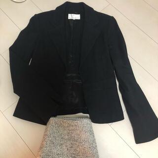 エムプルミエ(M-premier)のエムプルミエ 冬素材黒ジャケット(テーラードジャケット)