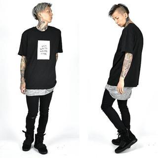 genking 着 黒 半袖Tシャツ メンズのトップス(Tシャツ/カットソー(半袖