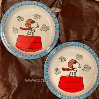 ザラホーム(ZARA HOME)のザラホーム メラミンプレート スヌーピー 2枚セット(食器)