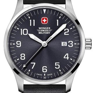 ウェンガー(Wenger)の【中古】ウェンガー本革腕時計 美品(腕時計(アナログ))