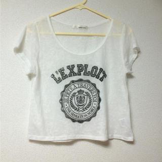 ミスティウーマン(mysty woman)のシースルーTシャツ(Tシャツ(半袖/袖なし))