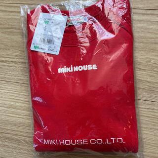 ミキハウス(mikihouse)のミキハウス  ロゴトレーナー 赤 100(Tシャツ/カットソー)