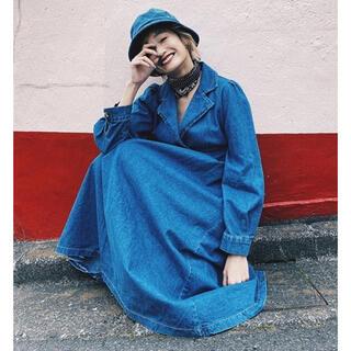 お値下⭐️新品 AMAIL Vintage collardenim dress (ロングワンピース/マキシワンピース)