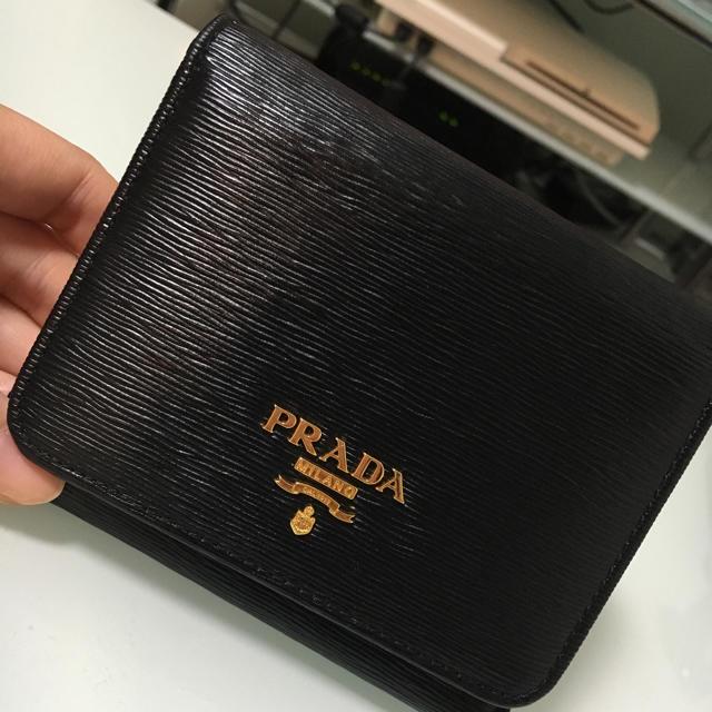 wholesale dealer 3e705 4908b PRADA 三つ折り財布 | フリマアプリ ラクマ