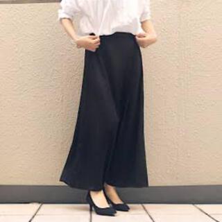 ジーユー(GU)のGU ロングスカート ブラック(ロングスカート)