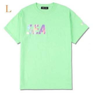 シー(SEA)のSEA (middle-iridescent) T-SHIRT / MINT(Tシャツ/カットソー(半袖/袖なし))