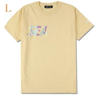シー(SEA)のSEA (middle-iridescent) T-SHIRT / YELLOW(Tシャツ/カットソー(半袖/袖なし))