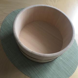 国産天然木さわら湯桶(タオル/バス用品)